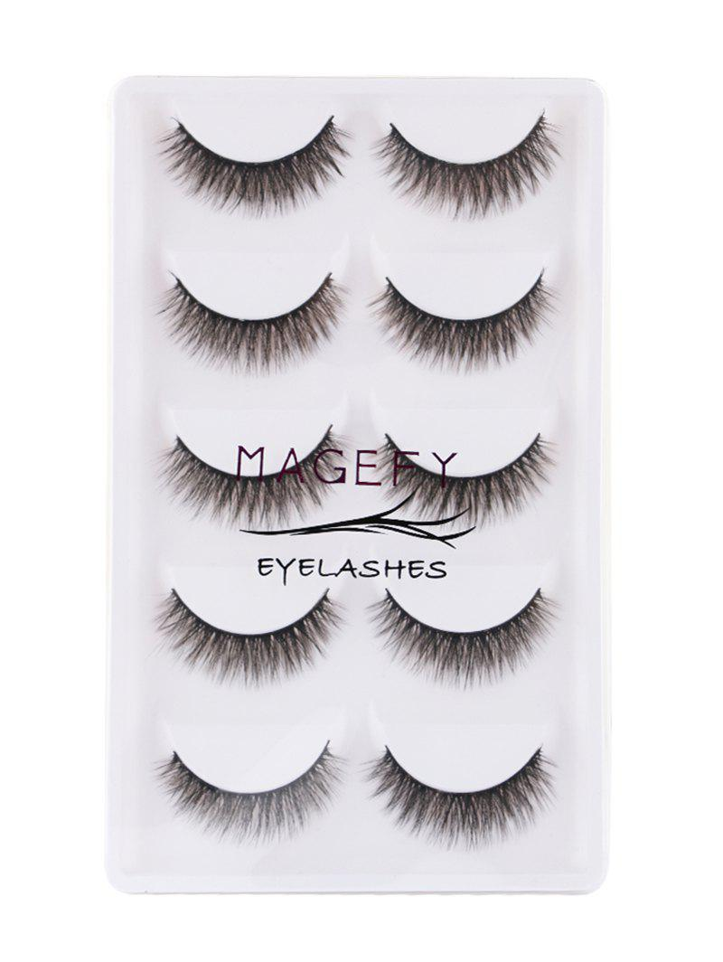 5Pcs Natural Looking Volumizing Mink False Eyelashes 254193601
