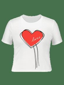 37 Off 2019 Plus Size Heart Graphic Valentine T Shirt In White 5xl