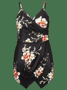 Talla 3xl Floral Grande Negro Mameluco De ERZqA