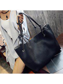 sac à bandoulière avec fermeture aimantée en cuir texturé
