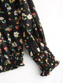 Floral Fruncida Blusa Floreada S Floral xWqvWpBF0
