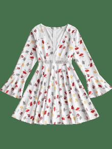 Minifalda Floral S Acampanado Encaje De Floral Panel Con v1qYrfvxw