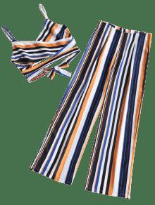 De Conjunto Raya 243;n L Anchos Rayas De Cruzadas Y Pantalones Pantal tqqw1BS