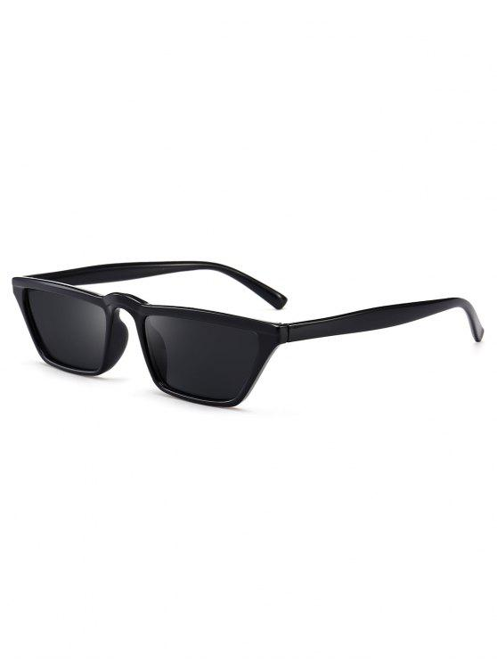 buy Narrow Cat Eye Sunglasses - BLACK