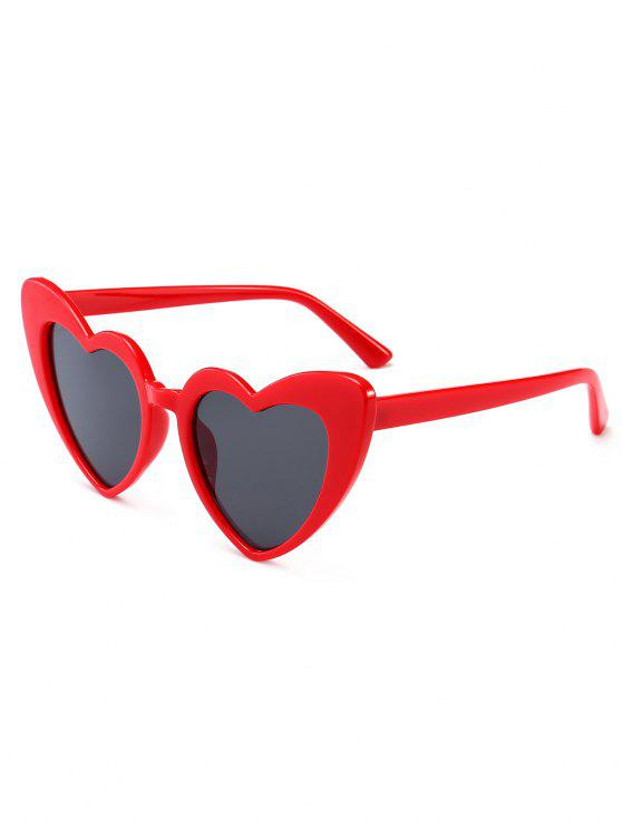 womens Heart Shape Sunglasses - CLARET
