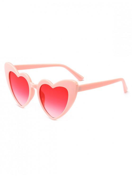 affordable Heart Shape Sunglasses - PINK FRAME+PINK LENS