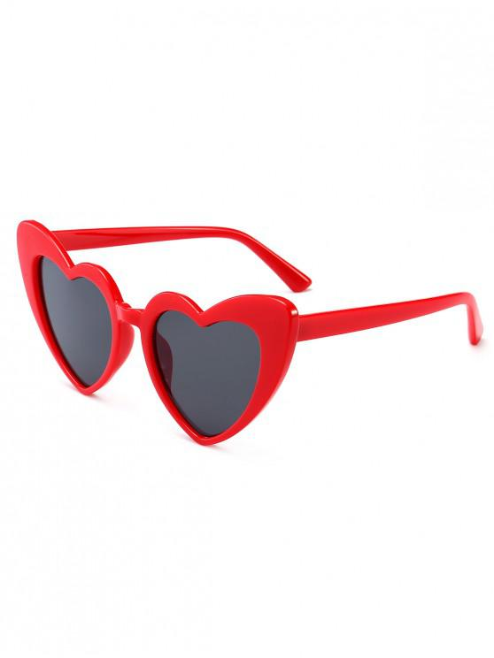 womens Heart Shape Sunglasses - CLARET