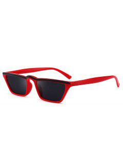 Narrow Cat Eye Sunglasses - Red