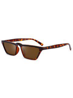 Narrow Cat Eye Sunglasses - Leopard+brown