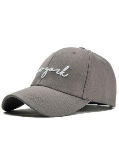 Unique Letter Embroidery Canvas Baseball Cap - Gray