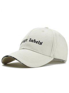 Sombrero De Snapback Ajustable Bordado De La Letra - Beis