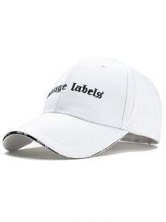 Sombrero De Snapback Ajustable Bordado De La Letra - Blanco