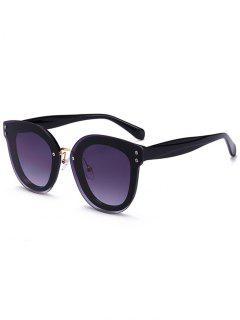 Unique Full Frame Nose Pad Sunglasses - Black Frame+grey Lens