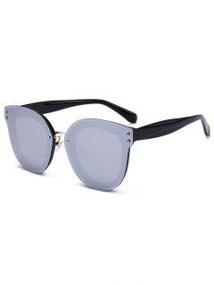 Unique Full Frame Nose Pad Sunglasses - Black+mercury