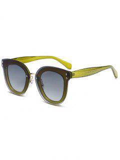 Gafas De Sol Con Montura De Nariz De Marco único - Verde