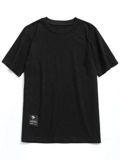 Label Crew Neck T-shirt - Black L