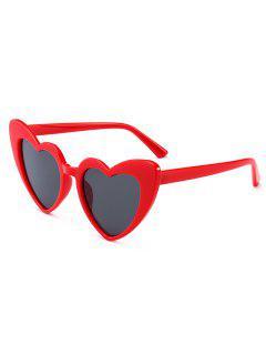 Heart Shape Sunglasses - Claret