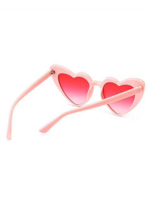 affordable Heart Shape Sunglasses - PINK FRAME+PINK LENS  Mobile