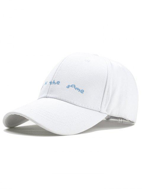 Unique Don  't être le même motif broderie Snapback Hat - Blanc  Mobile