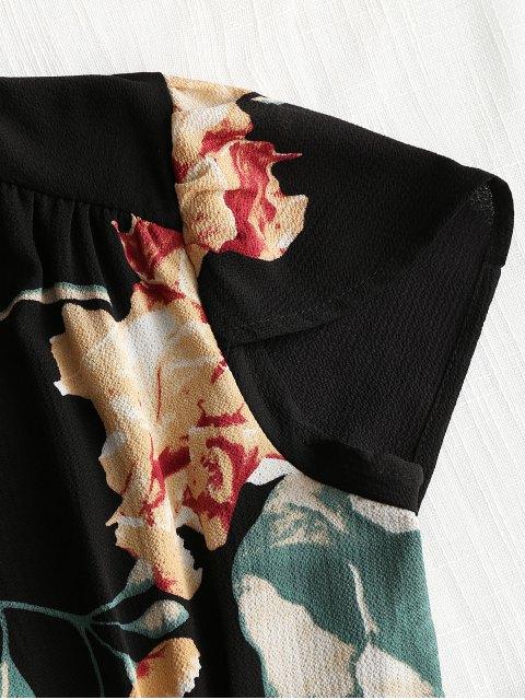 Mini vestido Floral Beach Wrap - Negro M Mobile