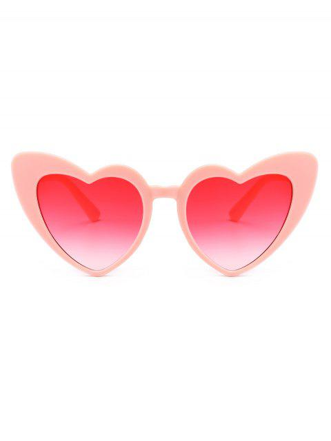 affordable Heart Shape Sunglasses - PINK FRAME+PINK LENS  Mobile