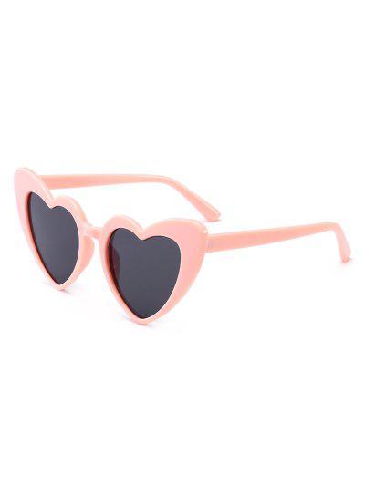 Heart Shape Sunglasses - Black And Pink ...