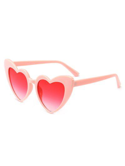 Heart Shape Sunglasses - Pink Frame+pink Lens