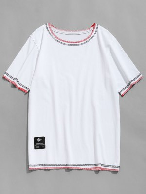 Stitching Short Sleeve T-shirt