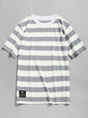 T-shirt Ras du Cou à Rayures