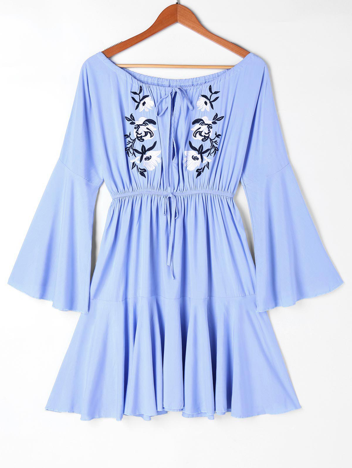 Off Shoulder Embroidery Casual Dress 244688204