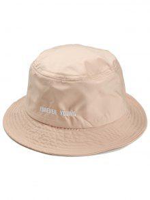 قبعة مزينة بكتابة - اللون البيج