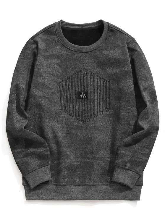 51% RABATT] 2018 Strukturiertes Fleece-Futter Camo Sweatshirt von ...