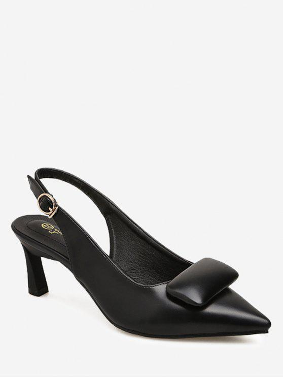 sale Point Toe Slingback Pumps - BLACK 36