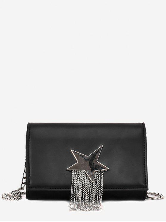 online Pentagram Chain Crossbody Bag - BLACK