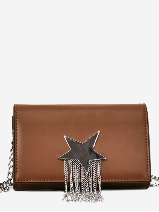 new Pentagram Chain Crossbody Bag - BROWN