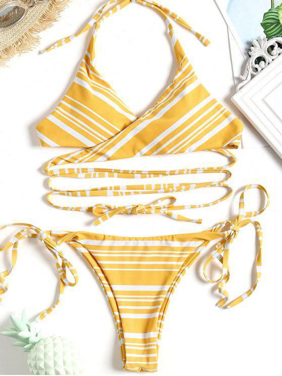 Bikini A Righe - Giallo S