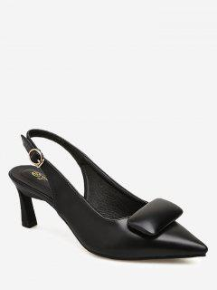 Point Toe Slingback Pumps - Black 39