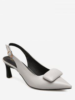 Point Toe Slingback Pumps - Gray 37