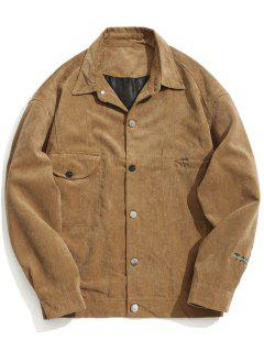Take Five Graphic Corduroy Jacket - Khaki M