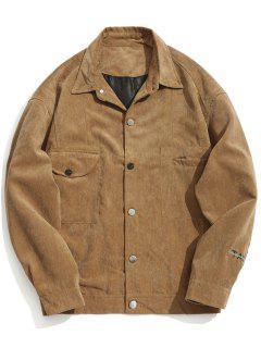 Nehmen Sie Fünf Graphic Corduroy Jacket - Khaki M