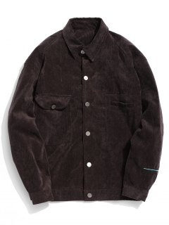 Take Five Graphic Corduroy Jacket - Cappuccino Xl