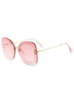 Unique Metal Frame Nose Pad Sunglasses - Clear Light Pink