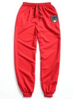 Pantalon De Jogger à Patch - Rouge 2xl