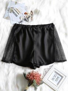 Pantalones Cortos De Malla De Dormir De Panel - Negro L