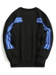 Pullover Striped Sweatshirt - Black Xl