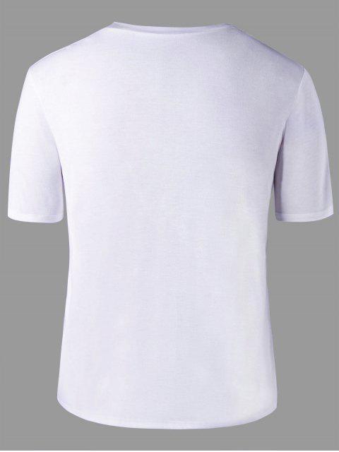 buy Graphic Printed Matching Couple T-shirt - WHITE MEN XL Mobile