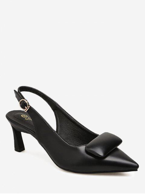 sale Point Toe Slingback Pumps - BLACK 36 Mobile
