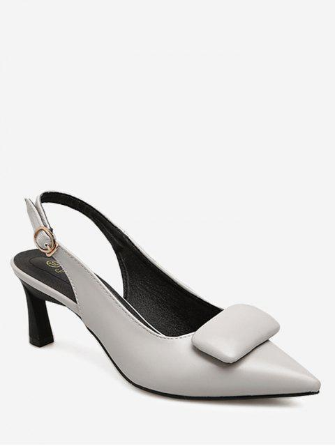 Point Toe Slingback Pumps - Grau 35 Mobile