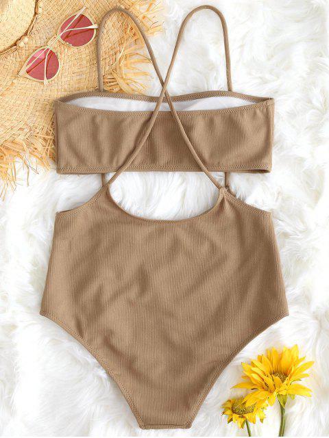 BikiniTopBandeuconBikiniBottomdeCinturaAlta - Camello S Mobile