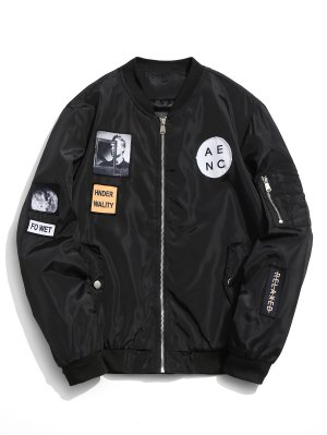 Patched Bomberjacke